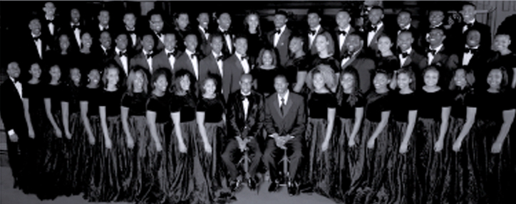 Take 6, left, and the Aeolians will perform in concert Saturday, January 19, at the Moody Concert Hall in Tuscaloosa, beginning at 7 p.m.
