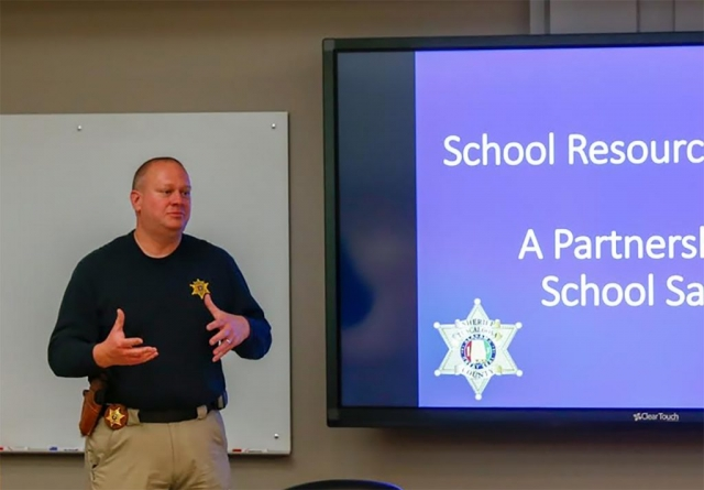 Sgt. Jeff Judd gives parents and teachers tips on how to keep children safe in school as well as in cyber space.