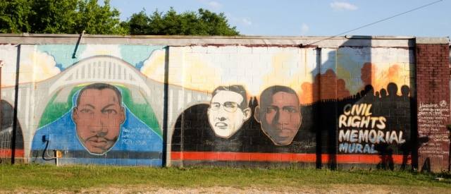 This civil rights memorial mural in Selma was one of many reflecting the area's civil rights history.