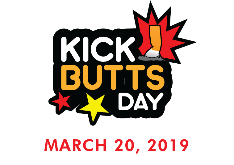 Kick Butts Day is March 20, 2019. This day focuses on helping people quit smoking cigarettes.