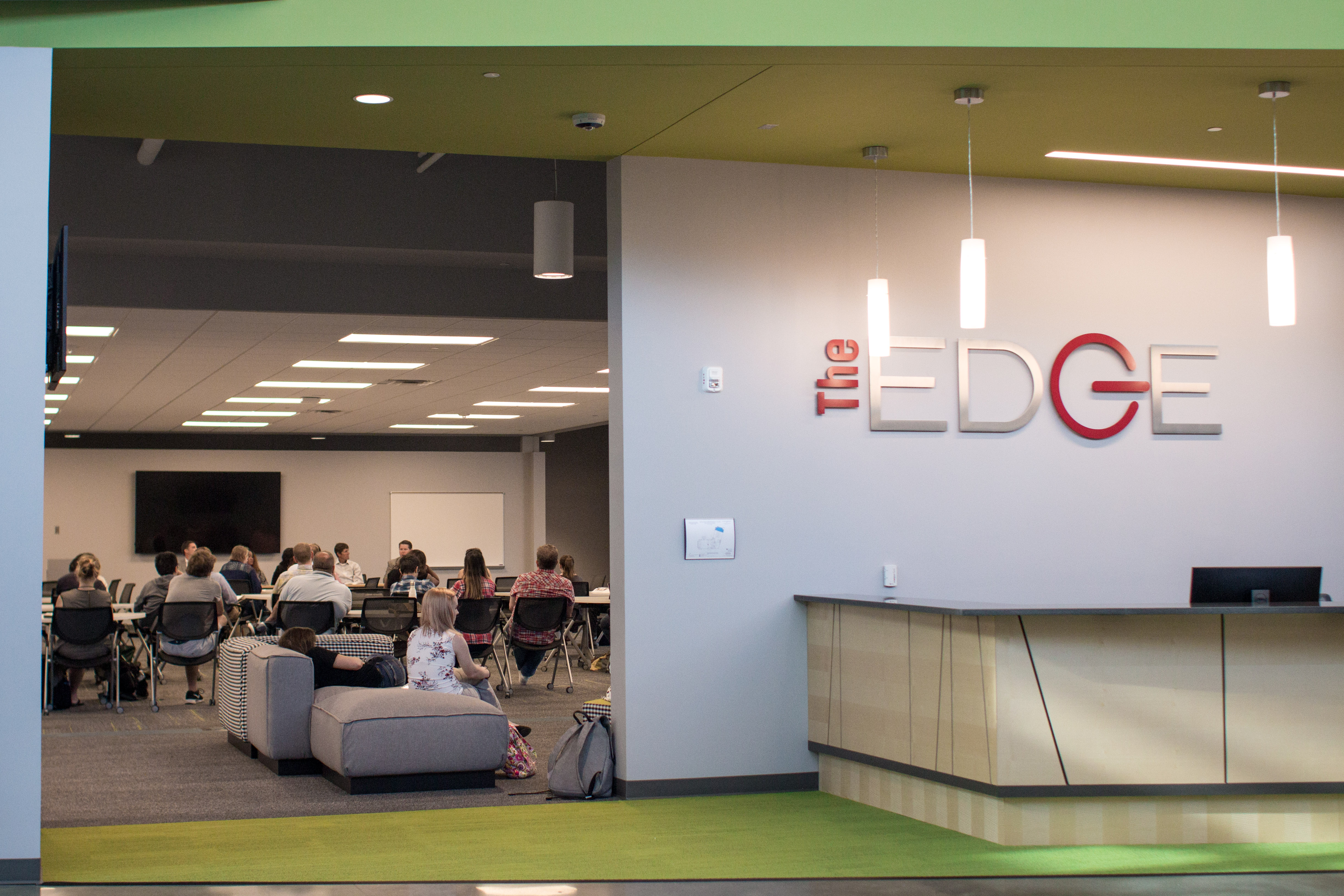The EDGE, an incubator and accelerator designed to help build and grow businesses and jobs, was the third and final stop on Day 1 of the tour.