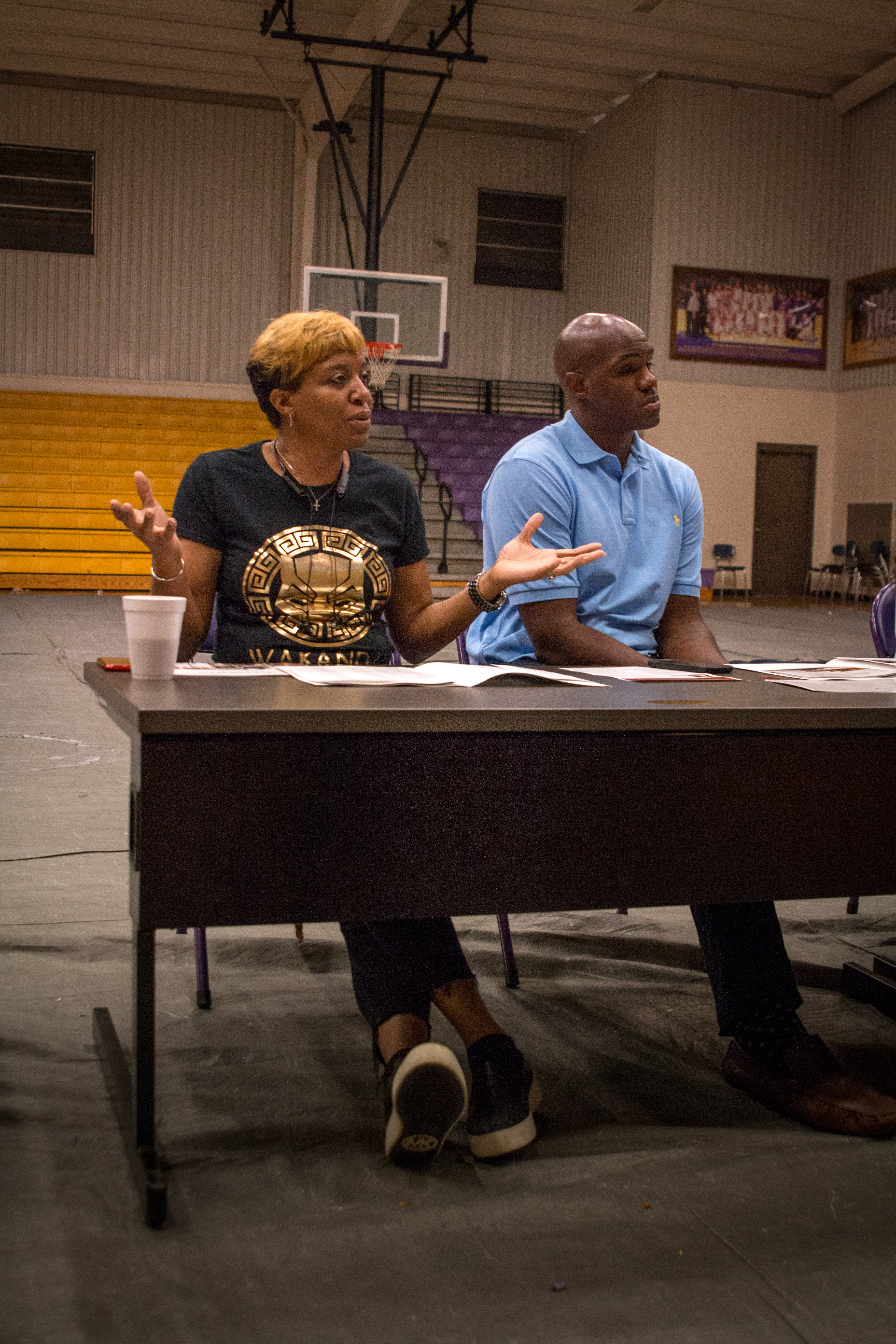 Dr. Leslie Ford, principal at R.C. Hatch High School in Uniontown, served as a panelist on this Day 3 tour stop.