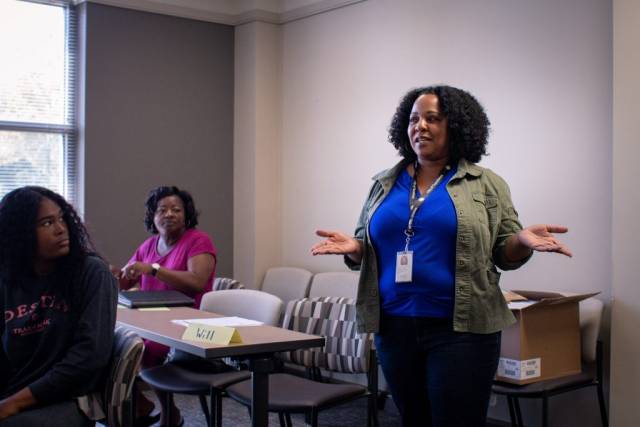 Kim Montgomery, Community Service Coordinator for the City of Tuscaloosa, describes Tuscaloosa's homeless population and need for supportive housing.