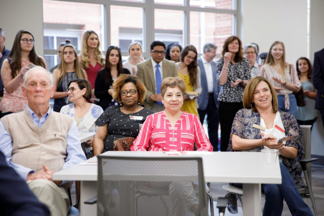 Over 75 community members, faculty, and students attended the grand opening of the Student Community Engagement Center.