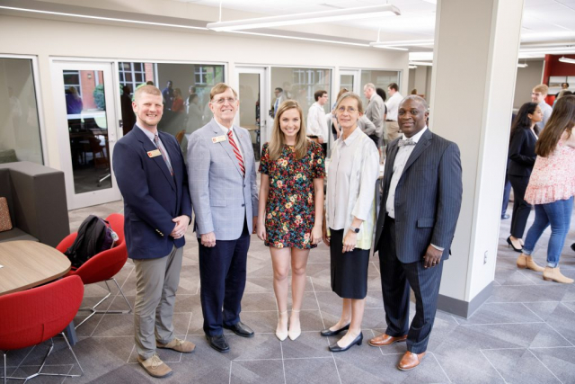 Anna McAbee, a junior public relations major, is president of the UA student chapter of the Public Relations Council of Alabama which has already begun using the space for work meetings.